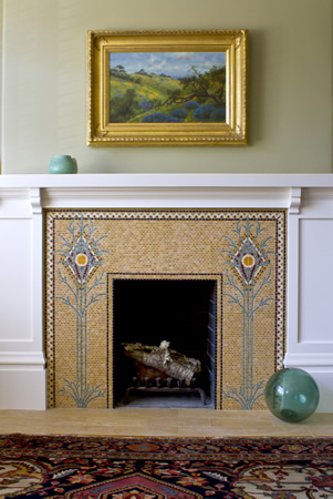 ARCHETILE: Commissioned: Arts and Crafts Fireplace